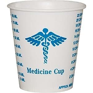 Solo Foodservice R3-43107 Medicine Design Wax Coated Paper Graduated Cup, 3 oz.