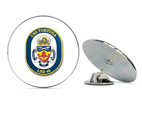 (US Navy USS Tortuga LSD-46 Military Veteran USA Pride Served Gift Metal 0.75