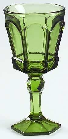 Vintage Fostoria Dark Green 6