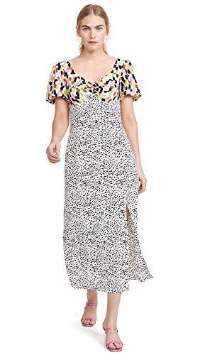 Glamorous Women's Multi Abstract Spot Midi Dress, Multi Abstract Spot, Large
