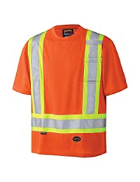 Pioneer V1051150-3XL Hi-Vis Birdseye Safety T-Shirt, Orange, 3XL