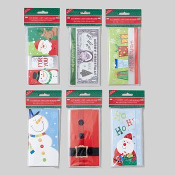 8-Pack of Christmas/Holiday Money Holder Greeting - Card Holder Gift Snowman