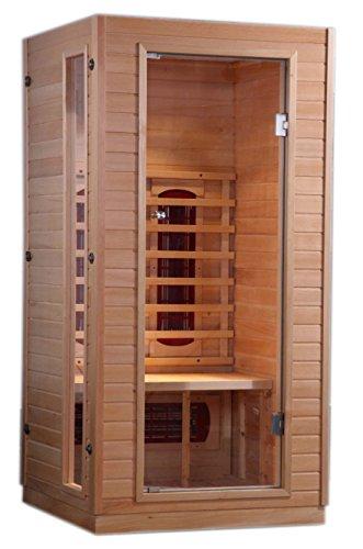 Royal Saunas 1-2 Person Far Infrared Hemlock w/3 Ceramic Heaters