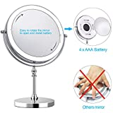 UUCOLOR 8 Inch Makeup Mirror with Light 1X 10X
