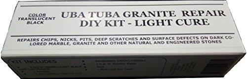 (UBA TUBA Granite & Dark Colored Stone Repair Diy Kit Light Cure 2.0 grams )