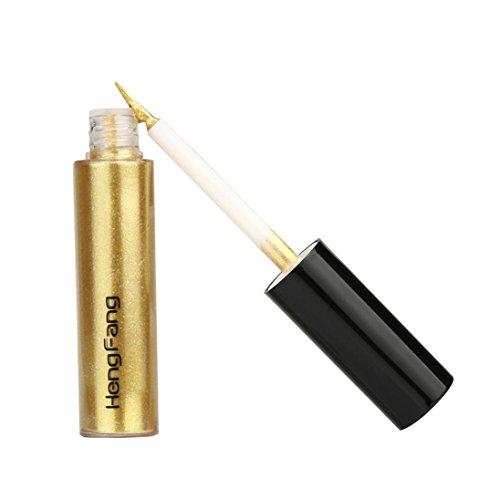 Kemilove Pigments Metallic Smoky Eyes Eyeshadow Glitter Liquid Eyeliner (Gold 7#)
