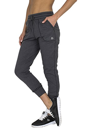 RBX Active womens Full Length Cotton Jogger,Charcoal,Medium (Corduroys Flare Cotton)