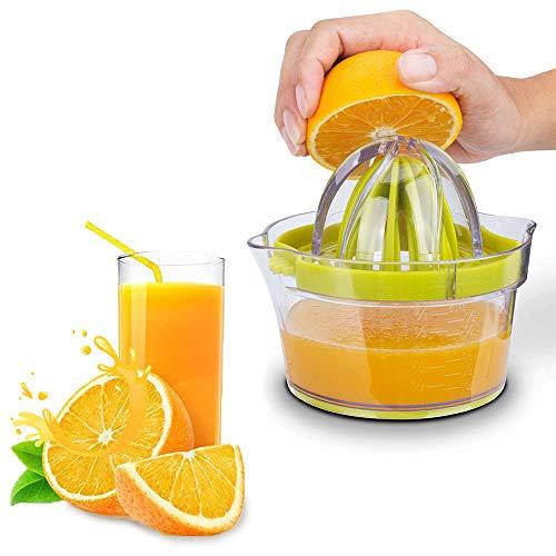 Citrus Juicer Lemon Orange Juicer, 4 in 1 Manual Hand Squeezer with Ginger Garlic Grater, Measuring Cup and Egg White Filter