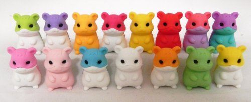 10 Pcs Hamsters Iwako Puzzle Eraser, Vary Rare, Limited Quantity