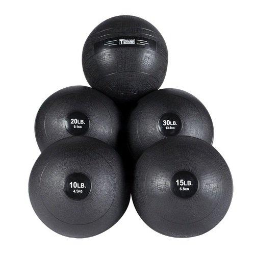 Body-Solid Slam Ball Set - 10, 15, 20, 25, 30 lb. Non-Bounce Medicine Balls by Ironcompany.com