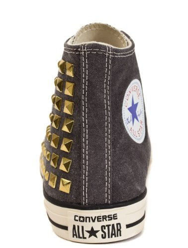 Converse Chuck Taylor All Star Col Studs Hi, Baskets mode femme Gris