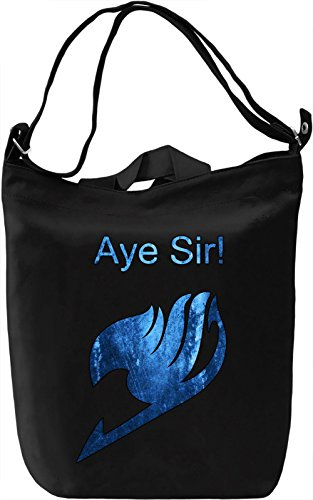 Aye Sir! Borsa Giornaliera Canvas Canvas Day Bag| 100% Premium Cotton Canvas| DTG Printing|