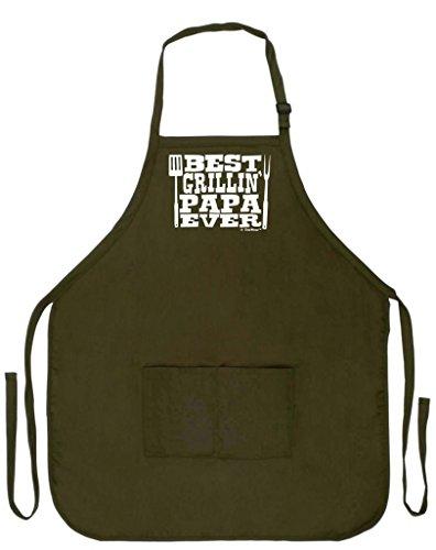 Regalo del día del padre mejor Grillin 'Papa Ever Funny delantal para barbacoa de cocina cocinar Asar a la parrilla Bacon...