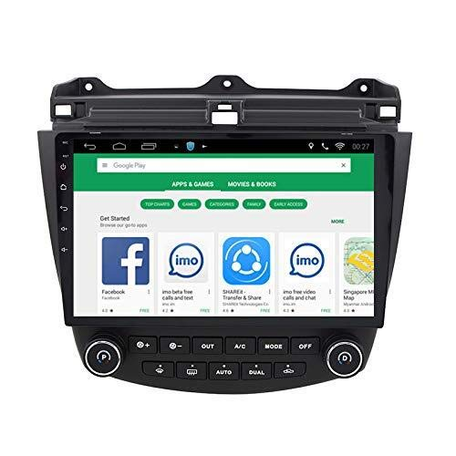 10.1 Inch 1G RAM 16GB ROM Android 8.1 Car Audio GPS Navigation for Honda Accord 7 2003-2007 Head Unit with 1080P Video Bluetooth Mirror Link ()