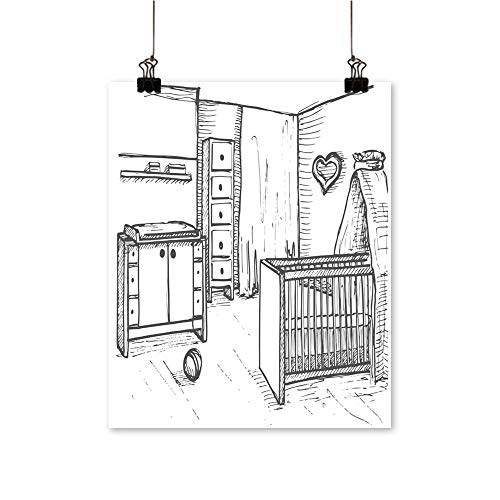 Wall Decor Chil s Room in a Sketch Style Nursery cots ch g Table Wall Art for Bedroom Home,28