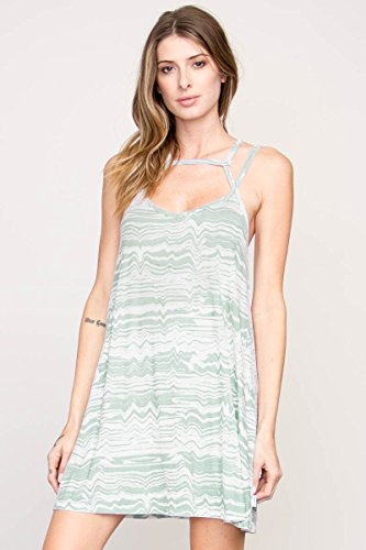 RVCA Juniors Zavey Jersey Tank Dress, Cool Mint, - Penn Sunglasses