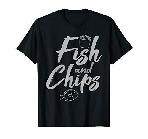Fish & Chips Funny British Food and Streetfood T Shirt Gift