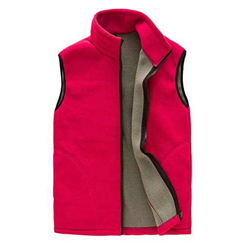 Gilet Outwear Unisex Laisla Mujer Suave Paño Grueso Libre Suave Chicos Shell Hola Rojo Cálido Aire Cremallera Al Transpirable para Deportes fashion Chaleco Y Body Clásico 1nRBwrq1
