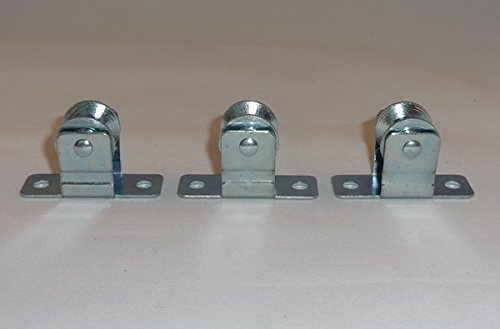 3 QTY: Metal Pulley / Cord Guide : for Roman & Other Shades and (Metal Pulley)