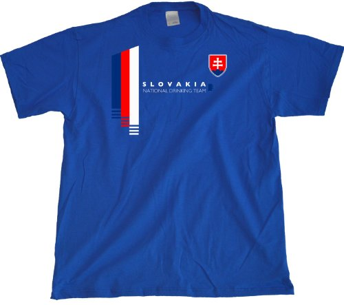 Ann Arbor T-shirt Co. Men's Slovakia National Drinking Team T-Shirt