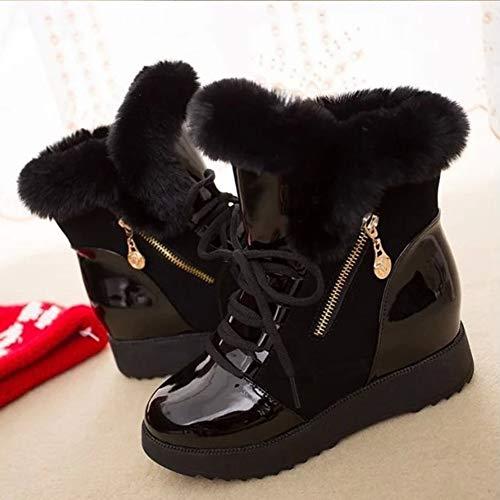 Inverno Inverno Dimensioni ZHAOYONGLI Calde E più nel 40 40 40 Scarpe Nero Moda da Stivali Boots in Invernali Colore Pizzo Snow Autunno Neve Stivali Stivali Nero Aumenta Velluto 4fOCwFq