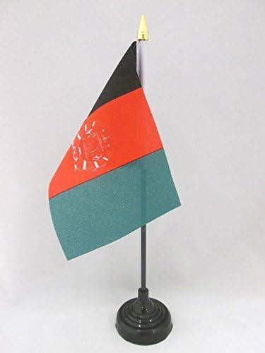 flaggen AFGHANISCHE TISCHFAHNE 10 x 15 cm AZ FLAG TISCHFLAGGE Afghanistan 15x10cm goldene splitze