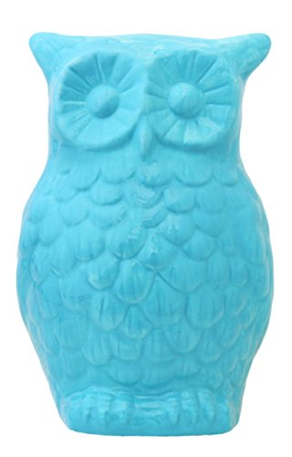 Tuscan Collection Ceramic Owl Coins Money Bank 8