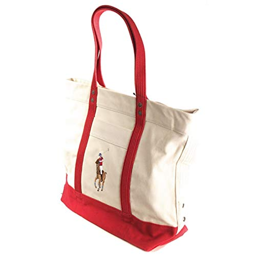 Lauren Womens Tote New Red Bianco Natural Ralph Purpose Multi PwxvHdPEq