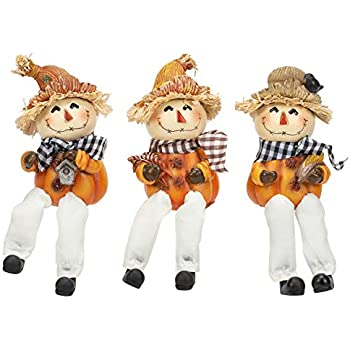 Amazon Com Transpac Bandana Scarecrow Shelf Sit Plaid 5 X
