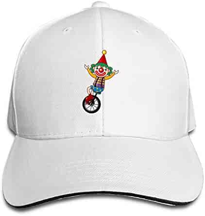 2937e4a482c Cycling Clown Snapback Cap Flat Bill Hats Adjustable Blank Caps for Men  Women