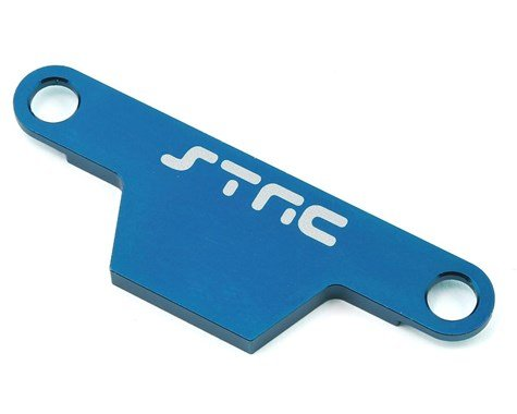 ST Racing Concepts ST3727AB CNC Machined Aluminum HD Battery Hold Down Plate (Rustler/Bandit) Upgrade Parts, Blue