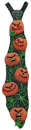 Scary Pumpkin Vine Halloween Tie -