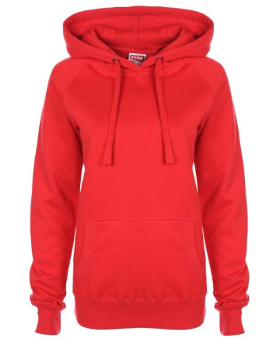 FDM Ladies' Raglan Hoodie Fire Red XS