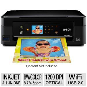 Epson Expression Home XP-400 Wireless All-in-One Color Inkjet Printer, Copier, Scanner. Prints from Tablet/Smartphone. AirPrint Compatible (C11CC07201) from Epson