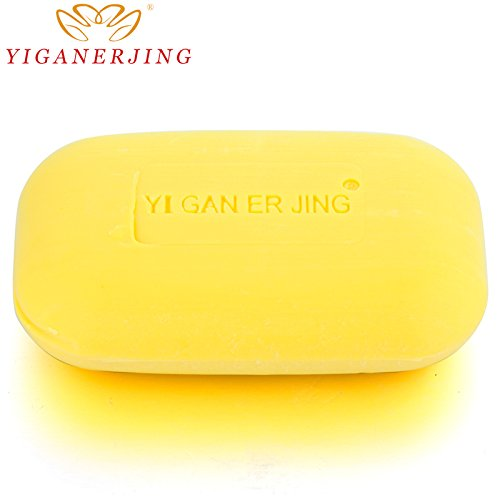 Yiganerjing Sulfur Soap Bath Shower Antibacterial Body Cleanser Psoriasis Eczema Pruritus Treatment Remedy Bar Home (Antibacterial Face Wash)