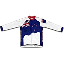 New Zealand Flag Winter Thermal Cycling Jersey for Men