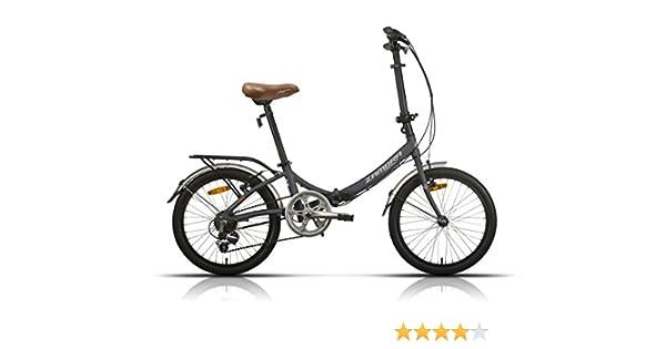 Megamo Zambra Bicicleta Plegable de Paseo, Unisex Adulto, Gris, M ...