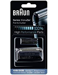 10B BRAUN 1000 Series FreeControl Series 1 Shaver Foil and Cutter Pack Head Replacement