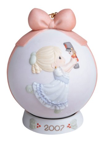 Precious Moments Dancing for Joy on Christmas Morning 2007 Annual Holiday Ball Ornament
