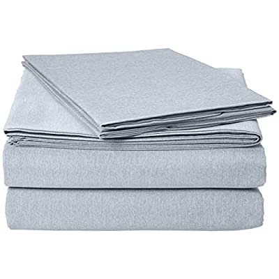 Basics Chambray Bed Sheet Set - Queen, Denim Wash: Home & Kitchen