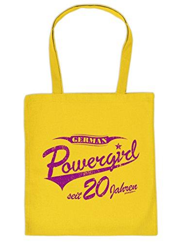 Geschenkidee zum Geburtstag für Powerfrauen German Powergirl seit 20 Jahren Tasche Geschenk zum 20 Geburtstag 20 Jahre