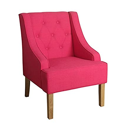 Super Homepop Kate Tufted Swoop Arm Accent Chair Raspberry Sorbet Andrewgaddart Wooden Chair Designs For Living Room Andrewgaddartcom