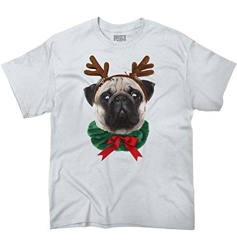 Funny Christmas Puppy - Funny Cute Pug Holiday Dog Santa Claus Puppy Ugly Christmas T-Shirt Tee
