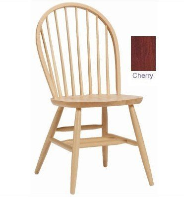 Bow Back Chair In Cherry Stained Finish