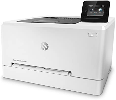 HP LaserJet Pro M254dw Wireless Color Laser Printer, Amazon Dash Replenishment Ready (T6B60A), White, One size