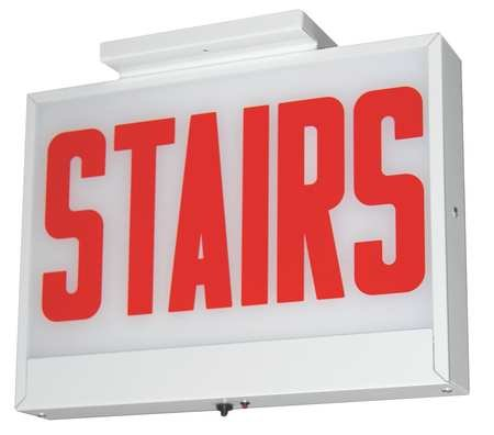 ACUITY LITHONIA Steel LED Stairs Sign with Battery BackUp