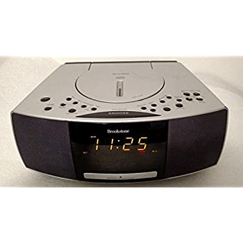 Amazon Com Brookstone Smartset Am Fm Cd Alarm Clock Radio