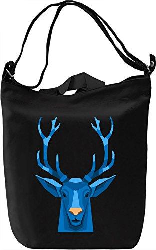 Blue Deer Borsa Giornaliera Canvas Canvas Day Bag| 100% Premium Cotton Canvas| DTG Printing|
