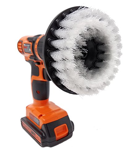 """Soft 5"""" Drill Brush Attachment: Beast Brush Spin Power Scrubber For Fast And Easy Cleaning, Soft Bristles For Light Stains, Delicate Surfaces, Auto Detailing"""