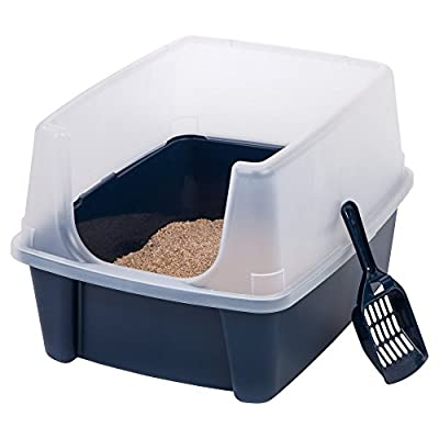 IRIS Open Top Cat Litter Box Kit with Shield and Scoop from IRIS USA, Inc.